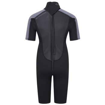 Typhoon Swarm3 Child's Shorty Wetsuit 250991 in black/graphite - back