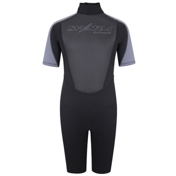 Typhoon Swarm3 Child's Shorty Wetsuit 250991 in black/graphite - front