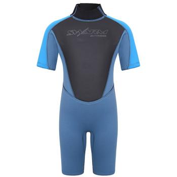 Typhoon Swarm3 Infant's Shorty Wetsuit in blue steel/blue