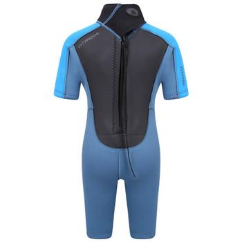 Typhoon Swarm3 Infant's Shorty Wetsuit in blue steel/blue - back
