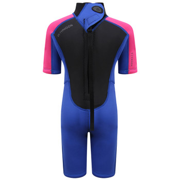 Typhoon Swarm3 Infant's Shorty Wetsuit in purple/hot pink - back