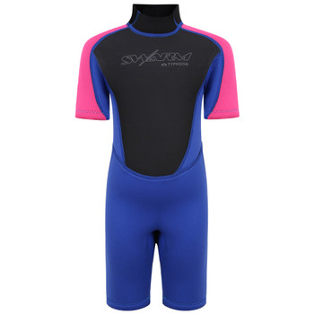 Typhoon Swarm3 Infant's Shorty Wetsuit in purple/hot pink
