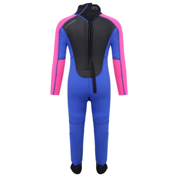 Typhoon Swarm3 Infant's wetsuit in purple/hot pink - back
