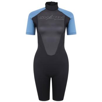 Typhoon Swarm3 Shorty Women's Wetsuit in black/blue steel