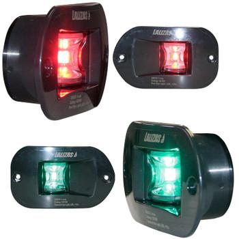Lalizas FOS LED Port & Star Navigation Light Set 12v - Recessed