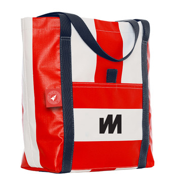 McWilliam Tote Bag - Red with Navy Handle