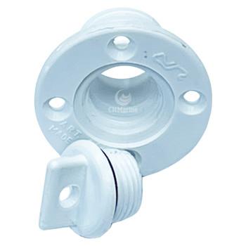 Nuova Rade Plastic Boat Drain Plug - White