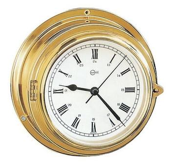 Barigo Brass Malin Clock 100mm
