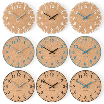 A Short Walk Clock - Cork - Black/Blue