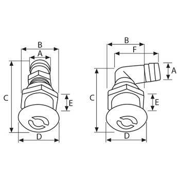 Nuova Rade Fuel Tank Breather with elbow - 16mm Hose