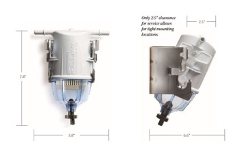 Racor Snapp Gasoline Filter Dimensions