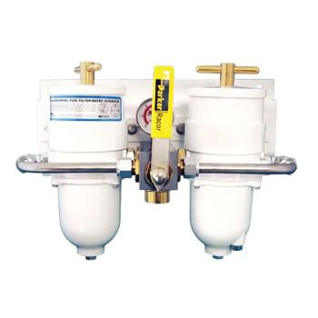 Racor Duplex 500 Turbine Fuel Filter 30 Micron Metal Bowl -75500MAXM30