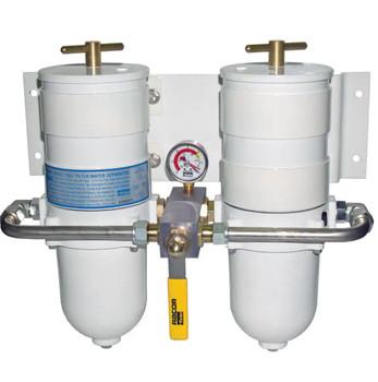 Racor Duplex 900 Turbine Fuel Filter 30 Micron Metal Bowl -75900MAXM30