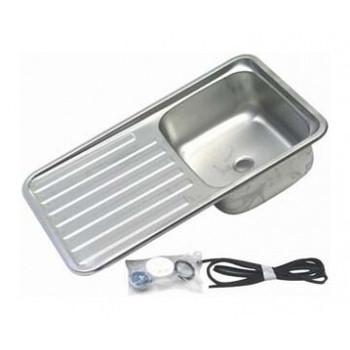 Dometic S/S Square Sink w/ Drainboard - 380mm x 149mm x 650mm