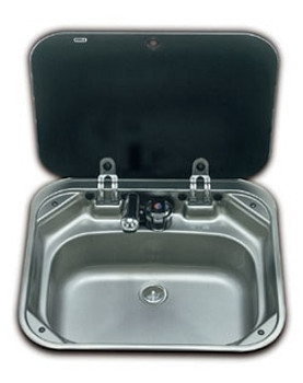 Dometic SNG 4237 Square Sink with Glass Lid - 420 x 370mm