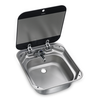 Dometic SNG 4244 Square Sink with Glass Lid