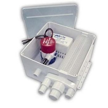 Rule 500 Shower Pump & Sump Kit -12v Model 97A