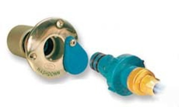Jabsco Deskwash Quick-Release Hose Fitting with BSP Male Hose Adapter - Stainless Steel