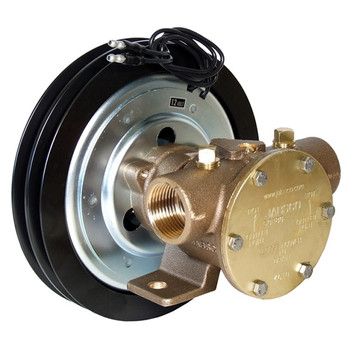 Jabsco 1'' Magnetic Clutch Bronze Pump - Double Pulley - 2A Groove - 12V (5A)