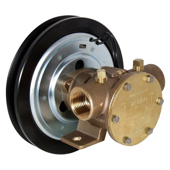 Jabsco 1'' Magnetic Clutch Bronze Pump - Single Pulley - 1B Groove - 24V (2.5A)
