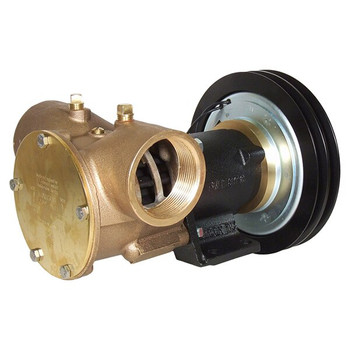 Jabsco 2'' Magnetic Clutch Bronze Pump - Double Pulley - 2A Groove - 12V (5A)