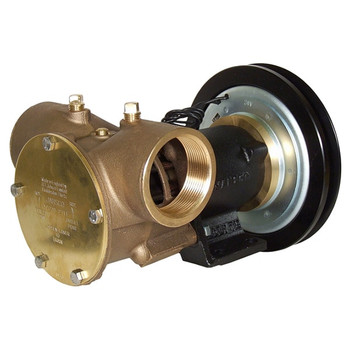 Jabsco 2'' Magnetic Clutch Bronze Pump - Single Pulley - 1B Groove - 12V (5A)