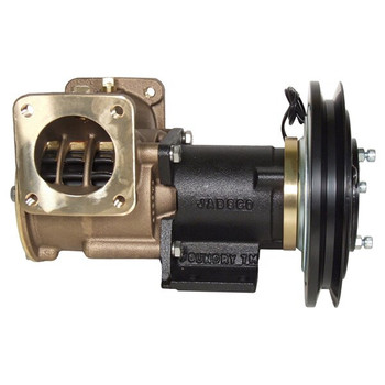 Jabsco 2'' Magnetic Clutch Bronze Pump - Flanged Ports - 1B Groove - 24V (2.5A) - Side View