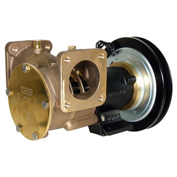 Jabsco 2'' Magnetic Clutch Bronze Pump - Flanged Ports - 1B Groove - 24V (2.5A)