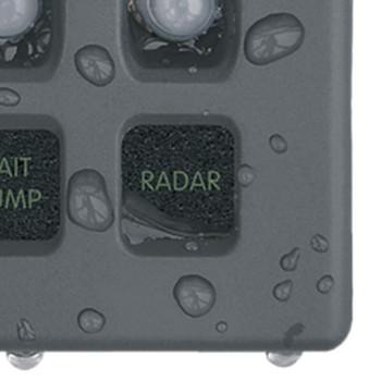 Blue Sea WeatherDeck Waterproof Circuit Breaker Panel - 6 Position - Grey - Water View
