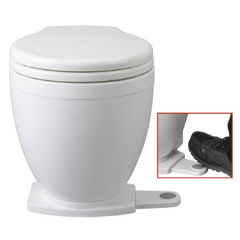 Jabsco Lite Flush Toilet with Foot Switch - 24V