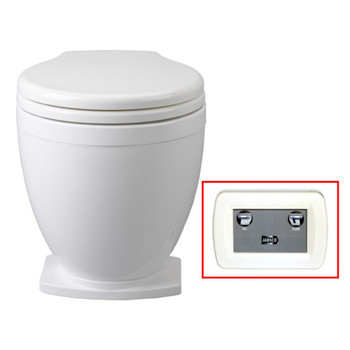 Jabsco Lite Flush Toilet with Control Panel - 12V