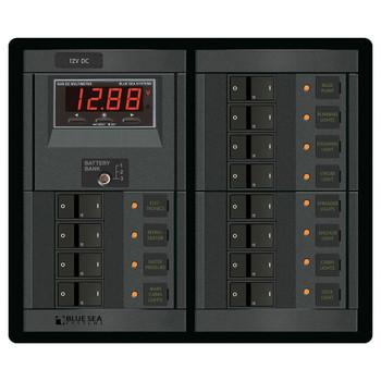 Blue Sea 360 System Distribution Panel - 12V - 12 Position/Switch