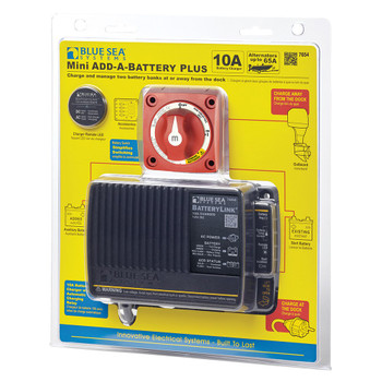 Blue Sea Add-A-Battery Plus Kit with Charger - 65A Europe Model - Pack View