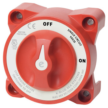 Blue Sea E-Series Battery Switch - 350A - On/Off - Red