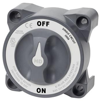 Blue Sea HD Series Heavy Duty Battery Switch - 600A - On/Off - Grey