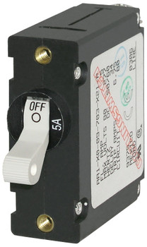 Blue Sea A-Series Toggle Circuit Breaker - Single Pole - 5A - White