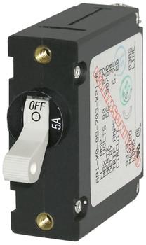 Blue Sea A-Series Toggle Circuit Breaker - Single Pole - 5A - White