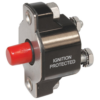 Blue Sea Medium Duty Push Button Circuit Breaker - 30A