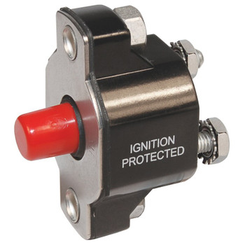 Blue Sea Medium Duty Push Button Circuit Breaker - 50A