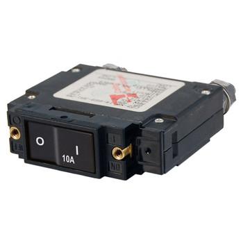 Blue Sea C-Series Flat Rocker Circuit Breaker - Single Pole - 10A