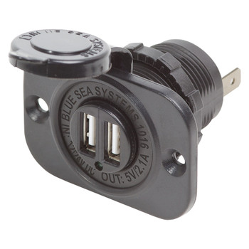 Blue Sea Dual USB Charger Socket 1016 - 12V/24V (2.1A)