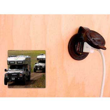 Blue Sea Dual USB Charger Socket - 12V/24V (2.1A) - Live View