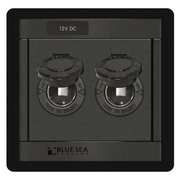 Blue Sea Dual Socket Panel - 12V