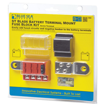 Blue Sea ST Blade Battery Terminal Mount Fuse Block Kit - Pack View