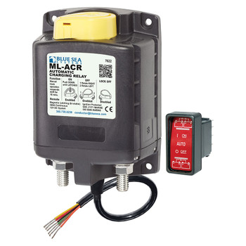 Blue Sea ML-ACR-Series Automatic Charging Relay with Manual Control - 12V (500A)