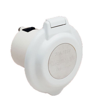 Marinco 16A Socket - White Round