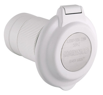Marinco 32A Socket - White Round