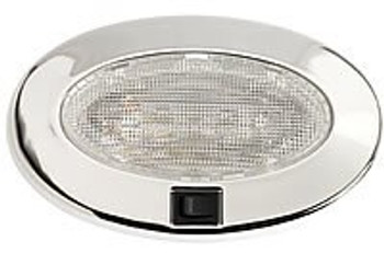Roca Recessed Cabin Light - Oval  Stainless Steel  12v x 15w