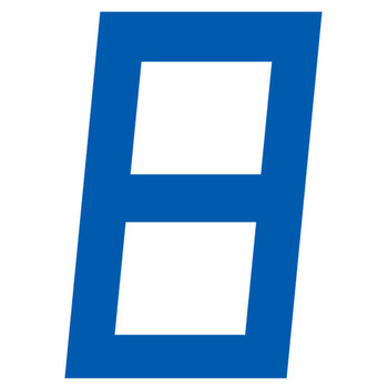 Optiparts Digital Sail Number - 23.5cm - Blue