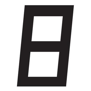 Optiparts Digital Sail Number - 23.5cm - Black